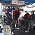 Team ready to dive a wreck in the Gulf Islands